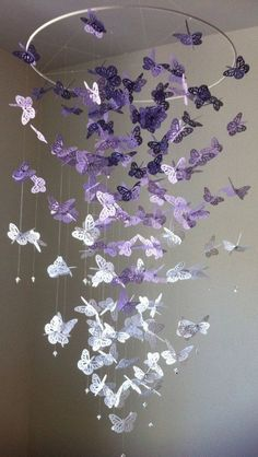 How To Make A Paper Butterfly Chandelier | The WHOot