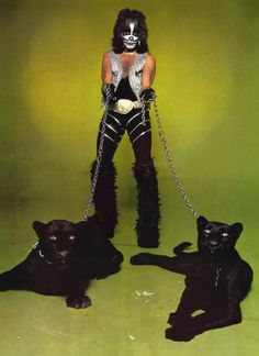 Peter Criss & Two Black Panthers. #music #kiss #petercriss http://www.pinterest.com/TheHitman14/music-in-picture-%2B/