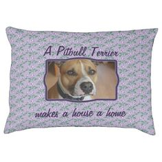 Purple flower pattern personalized dog bed - just add your own photo and motto.