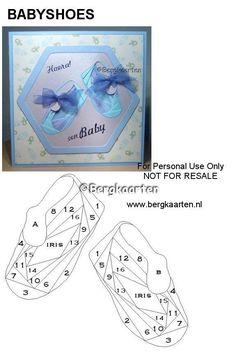 Iris Folding: Baby and Children Iris Folding Templates, Iris Paper Folding, Iris Folding Pattern, Paper Piecing Patterns, Card Patterns, Paper Cards, Folded Cards, Pliage D'iris, Dishcloth Knitting Patterns
