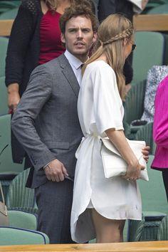 Sam 2 Claflin And Laura Haddock At The Wimbledon Tennis Championships 2014