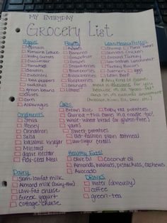 Healthy grocery list-LOVE those healthy foods and this is premade so I dont even have to think!