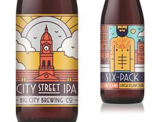 Big City Brewing Co packaging by Muti