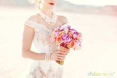 Peonies and pearls bouquet