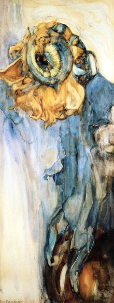 Dying sunflower (1908) Piet Mondrian