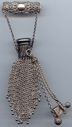 Pin Purse with Chatelaine Dangles