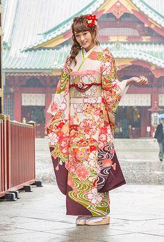 NO.1721 正絹 京友禅|成人式の振袖販売、振袖レンタルの京都きもの友禅