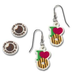 Accessorize with cookie earrings! http://girlscoutsosw.org/GirlScoutshop  #shopgsosw #girlscouts #gsosw #cookieboss