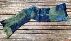 Boro scarf, felted silk Textiles, Boro, Cowls, Scarves, Wraps, Throw Pillows, Silk, Textile Design, Felting