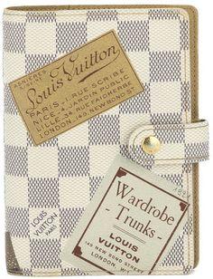 Louis Vuitton Damier Azur Wardrobe Trunks Agenda (Authentic Pre Owned)