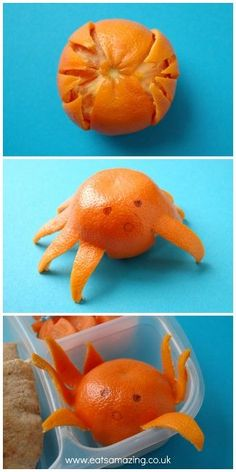 Eats Amazing - Mandarin Orange Octopus to go in an Octonauts themed lunch