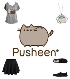 """""""PUSHEEN"""" by doort-kway on Polyvore featuring WithChic, Pusheen and Vans"""