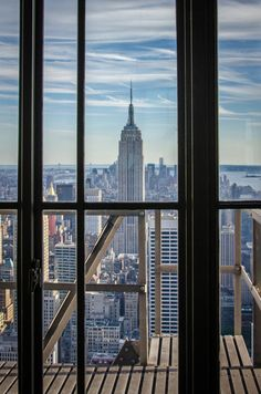 Empire State Building, view from Rockefeller Center, Top of the Rocks / New York City © Stefan Kranz