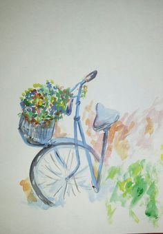 Flower cycle water color