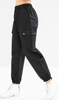 Genre de vêtements: Pantalons de survêtement  Longueur: Normal  Matières: Fibre Élastique,Polyester  Type de Taille: Naturel  Type de Fermeture: Taille Élastique  Type de Motif: Couleur Pure  Ornement: Poches  Style de Pantalon: Pantalon Cargo Cute Swag Outfits, Crop Top Outfits, Sporty Outfits, Nike Outfits, Retro Outfits, Outfits For Teens, Sweatpants Style, Sweatpants Outfit, Girls Fashion Clothes