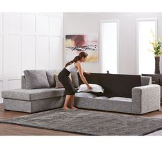 Dakota 5 Seater Modular Chaise with Storage | Modulars | Sofas & Armchairs | Categories | Fantastic Furniture - Australia's Best Value Furniture & Bedding