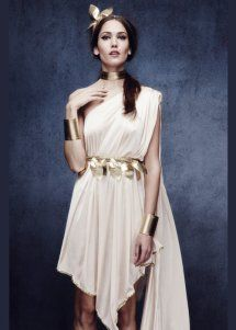Ladies Sexy Greek Goddess Fancy Dress Costume