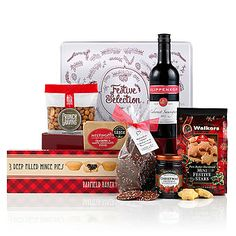 A Taste of Christmas Luxury Christmas Hamper Cheese And Wine Hampers, Food Hampers, Gift Hampers, Christmas Gift Baskets, Best Christmas Gifts, Christmas Treats, Traditional Hampers, Fresh Food Delivery, Gourmet