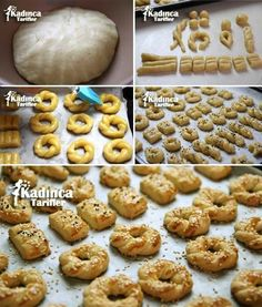 Sirkeli Tuzlu Kurabiye Tarifi - Kadınca Tarifler - galletas - Las recetas más prácticas y fáciles Salt Biscuits Recipe, Salt Cookies Recipe, Biscuit Recipe, Easy Cake Recipes, Cookie Recipes, Turkey Cake, Tasty, Yummy Food, Food Platters