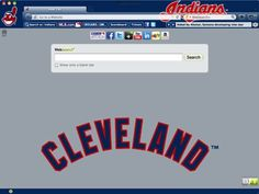 Cleveland Indians Browser Theme