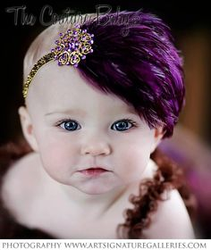 Dreaming of Sugar Plums  Purple and Gold by CoutureBabyHeadbands, $17.99