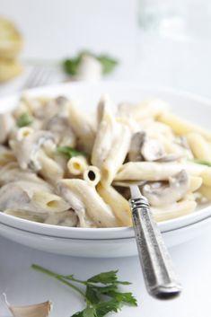 Pasta with Creamy Mushroom Sauce - www.bellalimento.com