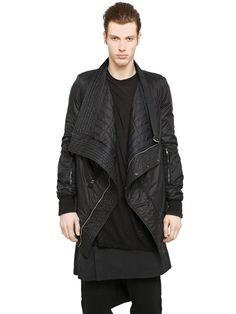 Drkshdw Wide Collar Padded Nylon Jacket
