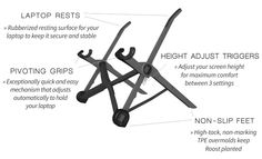 The Roost | Ultra Portable, Lightweight, Ergonomic Laptop Stand