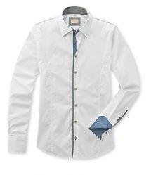 Q1 Hemd WALTER in Weiß in Komfort-Stretch Slim Fit, Shirt Dress, Suits, Mens Tops, Shopping, Dresses, Fashion, Vestidos, Moda