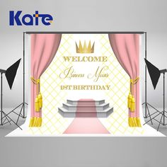Find More Background Information about Kate Pink Curtain birthday backdrop Photography Backdrops New Newborn Photography Props, Photography Backdrops, Photo Backdrops, Birthday Backdrop, Birthday Background, Crown Background, Pink Curtains, Baby Shower Photos, Baby Shower Princess