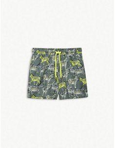 307a9ddec2 Boys Palm Tree Swim Shorts (6-13yrs) | SWIMWEAR | Swim shorts, Shorts, Boys