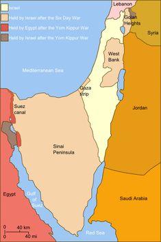 パレスチナ - Yom Kippur War map-2 - 第四次中東戦争 - Wikipedia