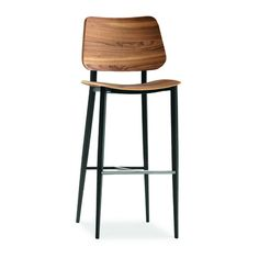 MIDJ Joe Stool - 2Modern The Joe, Cold Steel, Counter Stools, Indoor, The Originals, Chair, Wood, Modern, Graphite