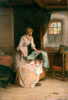 A Happy Home by John Burr (1831 – 1893, Scottish)