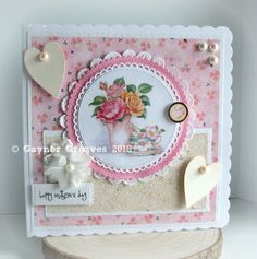 Designs by Gaynor Greaves Paper Crafts, Diy Crafts, Mothers Day Cards, Creative Cards, Embellishments, Card Ideas, Card Making, Lily, Female