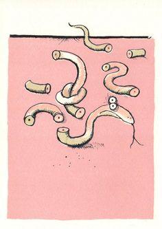 Le serpent cassé - Ronald Searle 1966