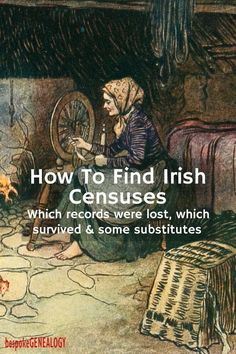 How to find Irish Censuses - Bespoke Genealogy Free Genealogy Sites, Genealogy Research, Family Genealogy, Genealogy Organization, Organizing, Family Tree Research, My Family History, Personal History, Women's History