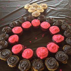 Engagement ring cupcake display! Bridal Shower!