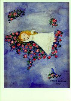 Sirkka Koivula. Ruusupilven enkeli. 2009  Naivistit Iittalassa, kortti no 12