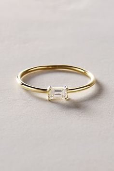 Liven Co. Baguette Diamond Ring in 14k Yellow Gold #anthroregistry #holidaygifts