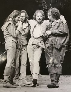 Ian Charleson, Paul Whitworth, Michael Pennington and Richard Griffiths in Love's Labour's Lost, 1978