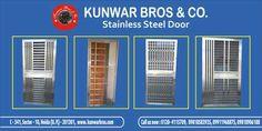 Stainless Steel Door manufacturer and Suppliers in Delhi NCR www.kunwarbros.com