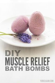 Take care of those achy muscles with these relaxing bath bombs with a lavender smell.