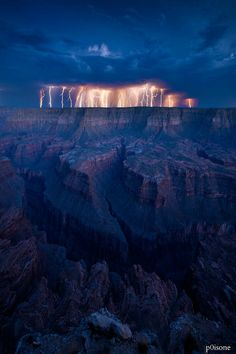 Grand Canyon Storm. Time lapse photography.