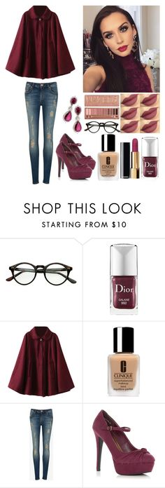 """""""Sans titre #362"""" by shanelle-khl ❤ liked on Polyvore featuring beauty, Christian Dior, Urban Decay, Clinique, Ted Baker and Farah Khan"""