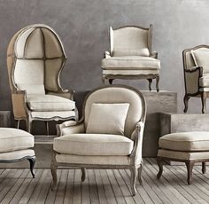 Small Accent Chairs For Living Room Info: 9327138774 French Country Furniture, Classic Furniture, Chaise Louis Philippe, My Living Room, Living Room Decor, White Bedroom Chair, White Leather Dining Chairs, Comfortable Living Room Chairs, Wrought Iron Patio Chairs