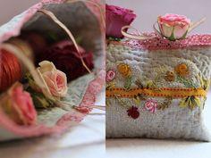 Delicate rose bag