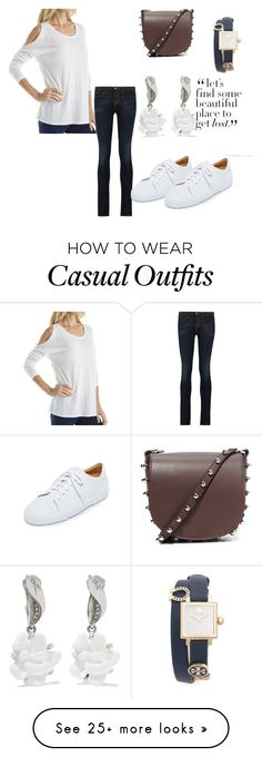 """""""Casual Jeans Attire"""" by hillarymaguire on Polyvore featuring Michael Stars, J Brand, Alexander Wang, A.P.C., Tory Burch and Oscar de la Renta"""