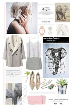 """● ELEPHANTS"" by paty ❤ liked on Polyvore featuring W118 by Walter Baker, MANGO, Salvatore Ferragamo, Luv Aj, Gianvito Rossi, Napoleon Perdis, CO, Nails Inc. and Vitra"
