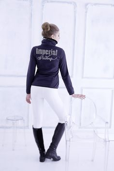 Collection Fall & Winter 14/15, Fleece Jacket Pretty Woman, in black and navy www.imperialriding.nl  #fashion #imperialriding #horsegear #equestrianfashion